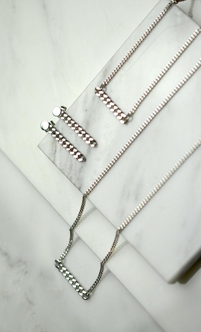 Armband | Ohrstecker | Halskette | 925 Silber | rhodiniert