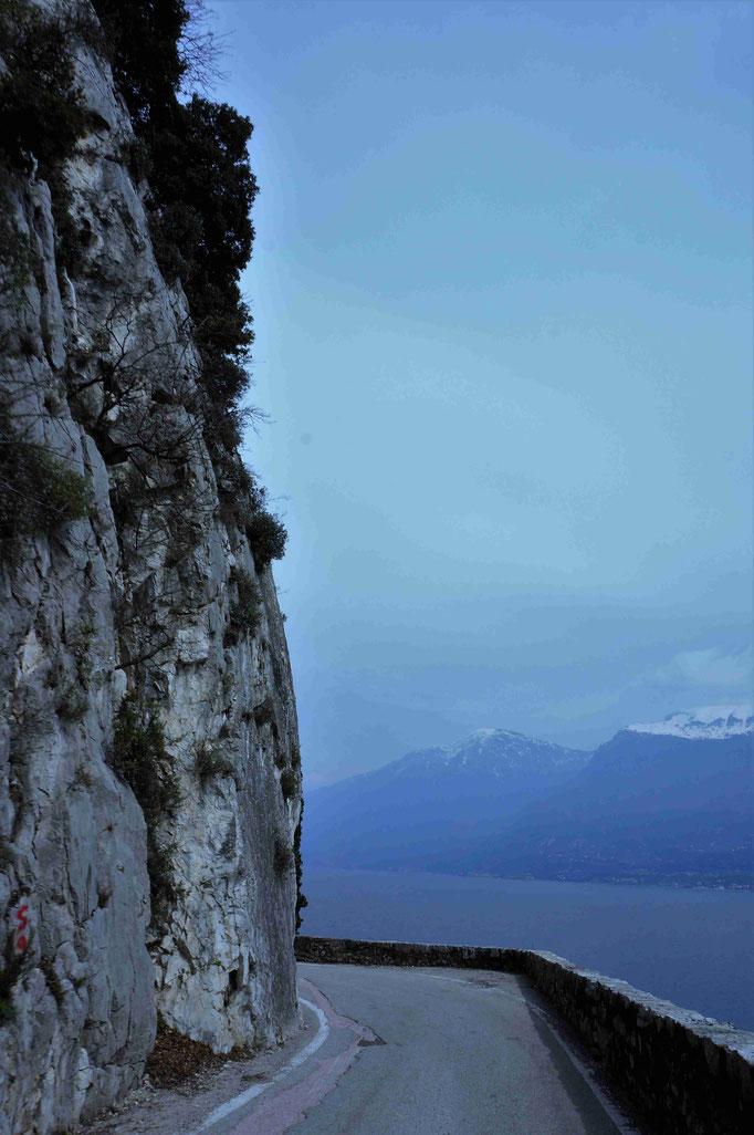 Blick auf den Gardasee / Straße nach Trimonsine
