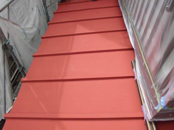 カワラ棒鉄板/高圧洗浄、ケレン、下地処理、錆止め塗装