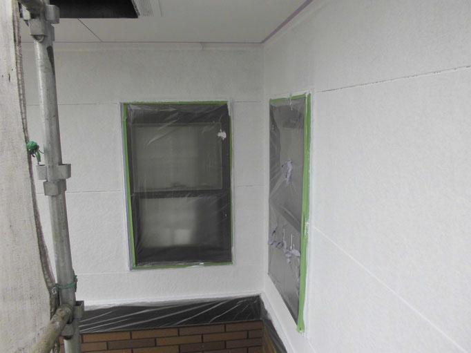 外壁(サイディング)/高圧洗浄、下地処理、養生、下塗り塗装