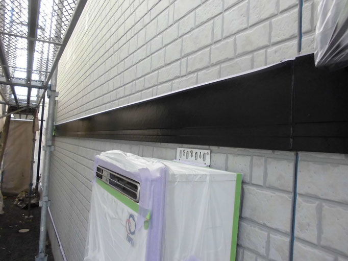 帯/下地処理、主材中塗り塗装