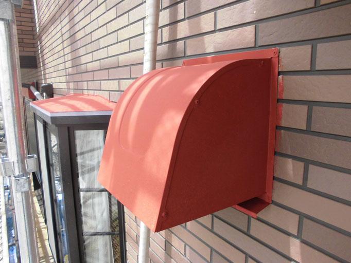 換気フード/水切鉄板/下地処理、錆止め、主材中塗り塗装
