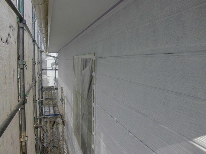 外壁/高圧洗浄、下地処理、ジョイントシール打替え、下塗り塗装