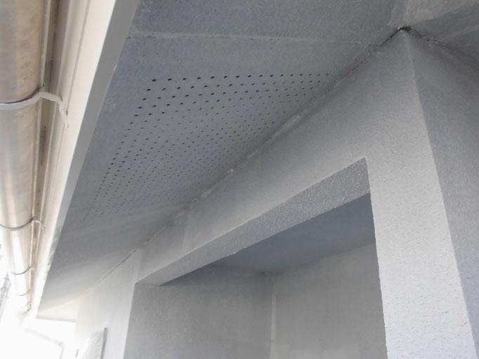 軒裏天井/高圧洗浄、下地処理、下塗り塗装