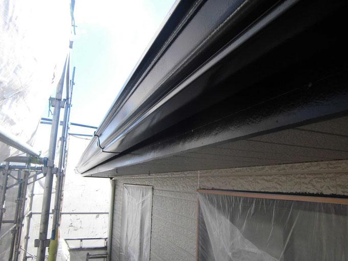 軒雨樋/高圧洗浄、下地処理、主材中塗り