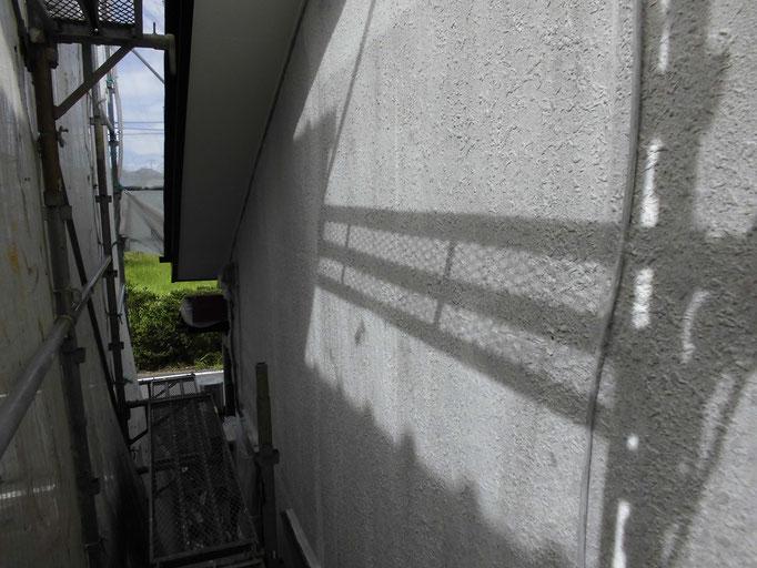 外壁(モルタル)/高圧洗浄、下地処理、下塗り塗装