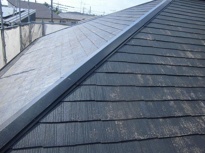 屋根(コロニアル)/高圧洗浄、下地処理、下塗り塗装