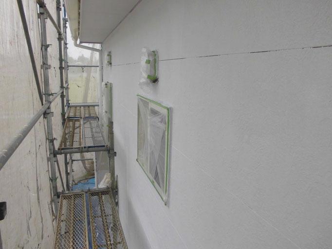 外壁(サイディング)/高圧洗浄、下地処理、下塗り塗装