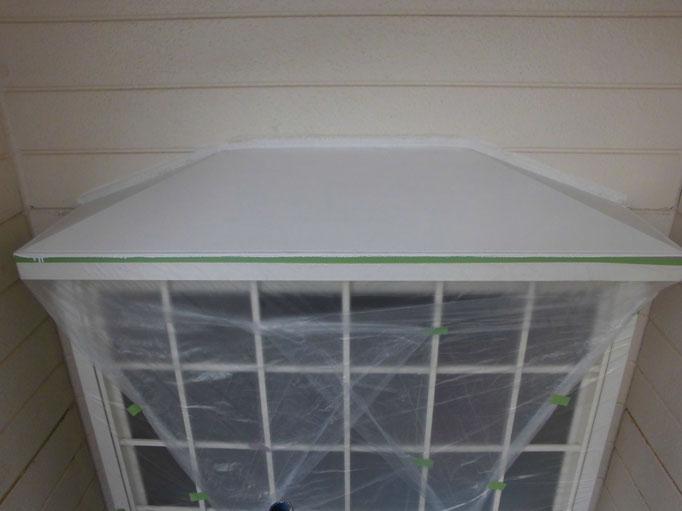 出窓上トタン/高圧洗浄、下地処理、錆止め