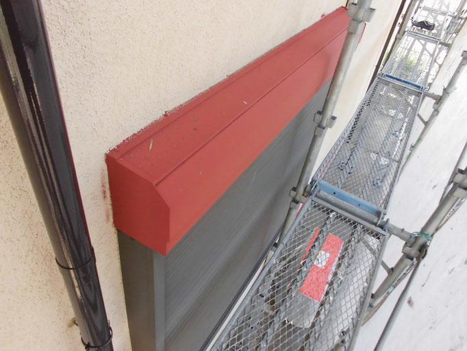シャッターBOX/高圧洗浄、ケレン、下地処理、錆止め塗装