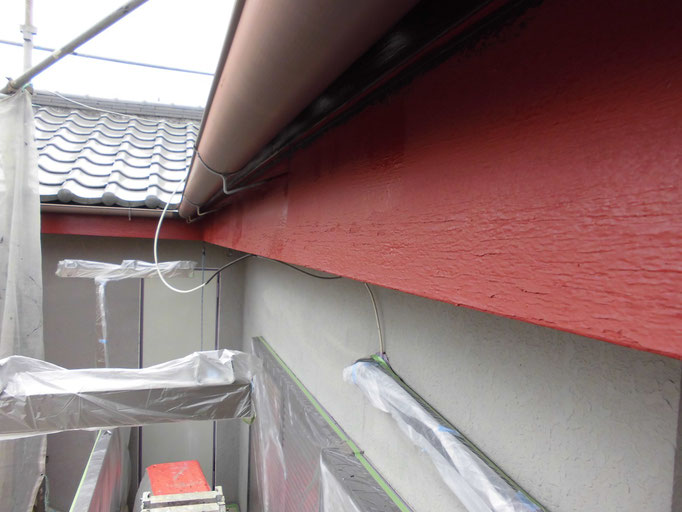 破風板/高圧洗浄、下地処理、下塗り塗装