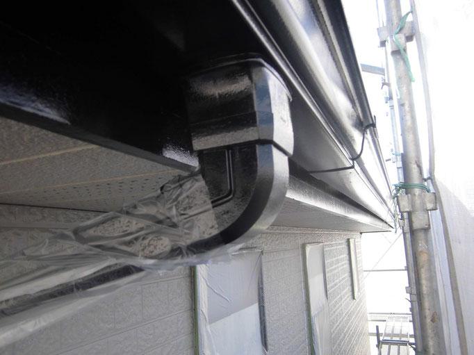 破風板/高圧洗浄、下地処理、主材中塗り