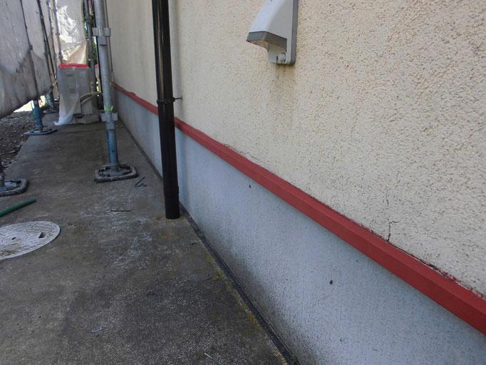 水切鉄板 /高圧洗浄、ケレン、下地処理、錆止め塗装