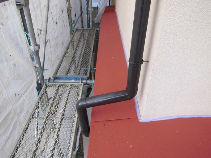 庇トタン/高圧洗浄、ケレン、下地処理、錆止め塗装