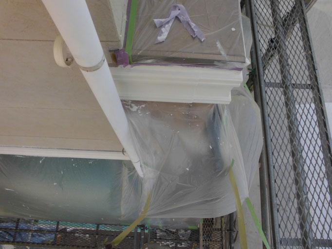帯/高圧洗浄、下地処理、中塗り塗装