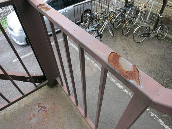 共用階段/錆の発生