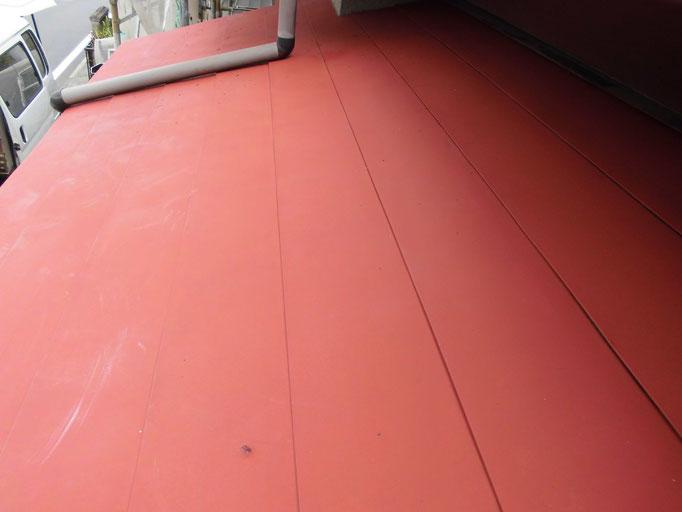 下屋(鉄板)/高圧洗浄、ケレン、下地処理、錆止め塗装