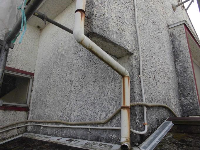 雨樋/劣化、支持金具の錆び
