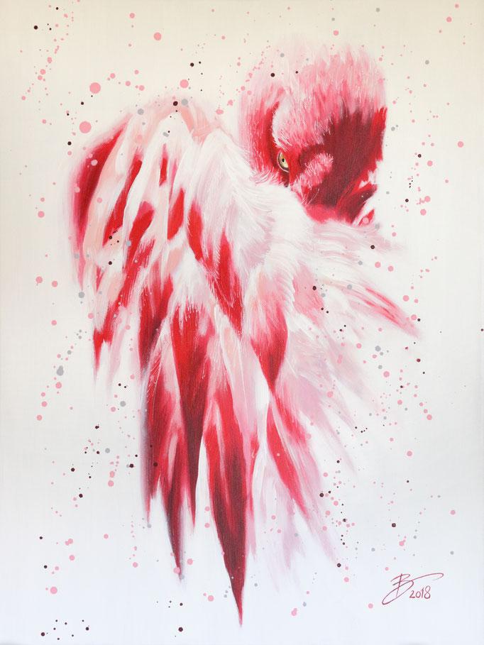 Flamingo - 60x80cm - Acryl auf Leinwand
