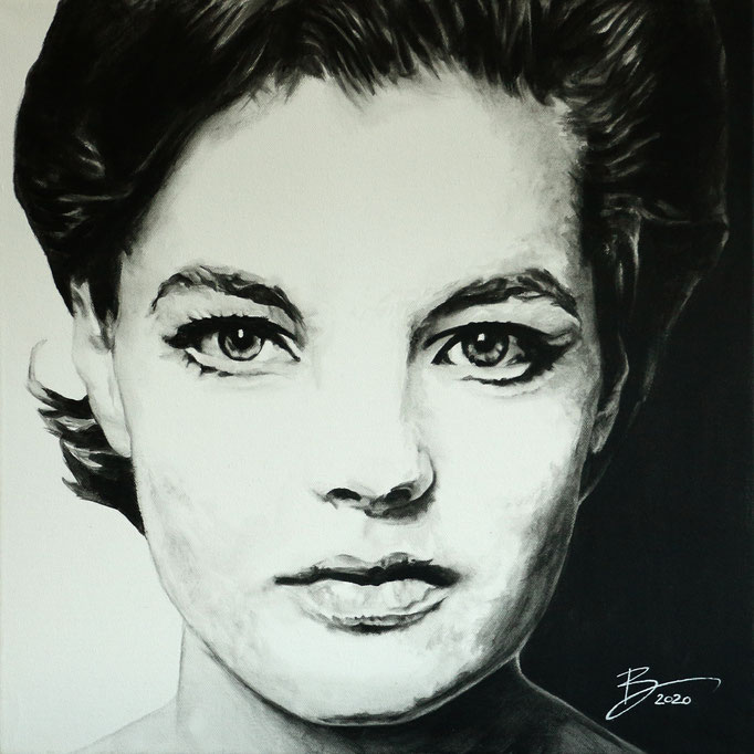 Romy Schneider 2.0 - 50x50cm - Acryl auf Leinwand