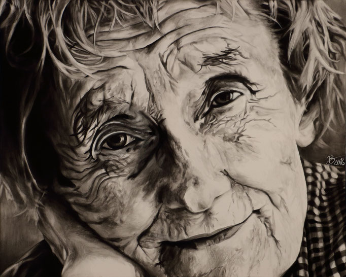 Astrid Lindgren - 80x100cm - Acryl auf Leinwand