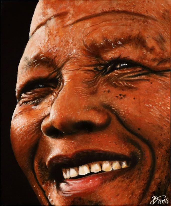 Nelson Mandela - 50x60cm - Acryl auf Leinwand