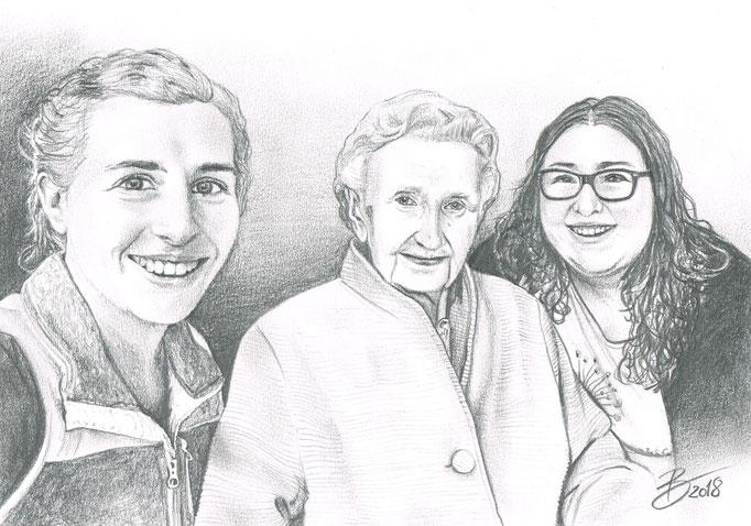Erinnerung an einen lieben Menschen - DIN A4 - Graphitstift auf Papier
