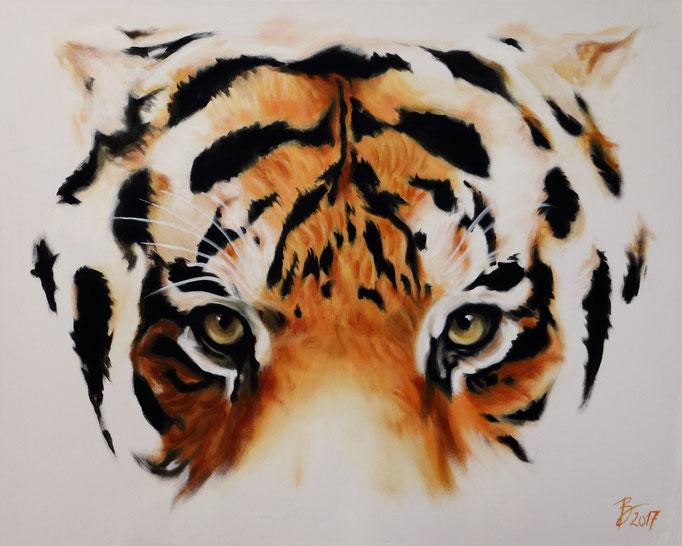Tiger - 80x100cm - Acryl auf Leinwand