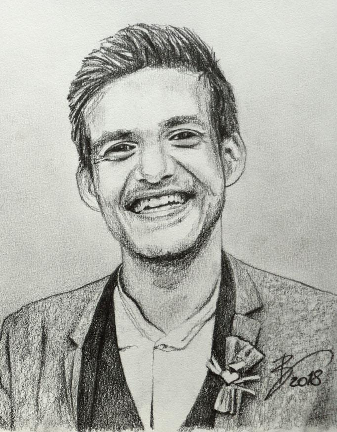 """Portrait """"Alexander"""" - 14x18cm - Graphitstift auf Papier"""