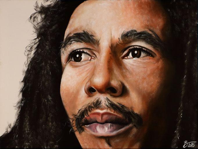 Bob Marley - 60x80cm - Acryl auf Leinwand