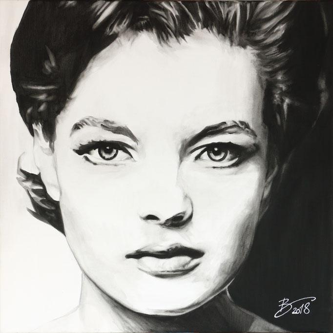 Romy Schneider - 50x50cm - Acryl auf Leinwand
