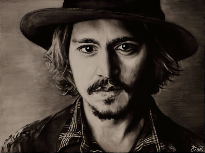 Johnny Depp - 60x80cm - Acryl auf Leinwand