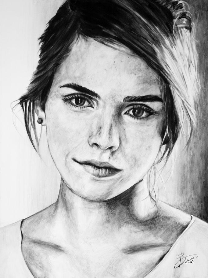 Emma Watson - 60x80cm - Acryl auf Leinwand