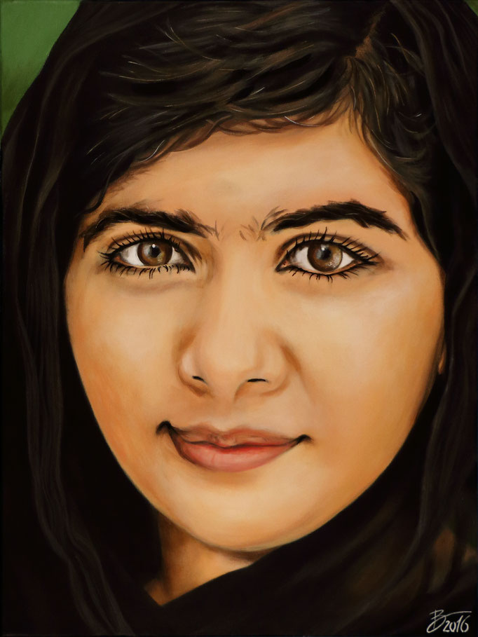 Malala Yousafzai - 60x80cm - Acryl auf Leinwand