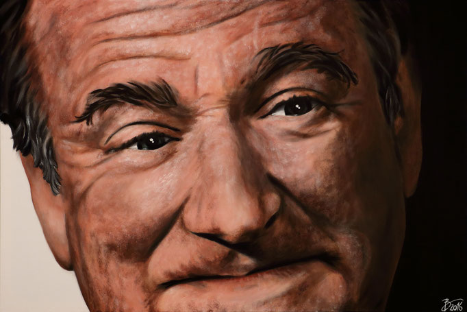 Robin Williams - 80x120cm - Acryl auf Leinwand