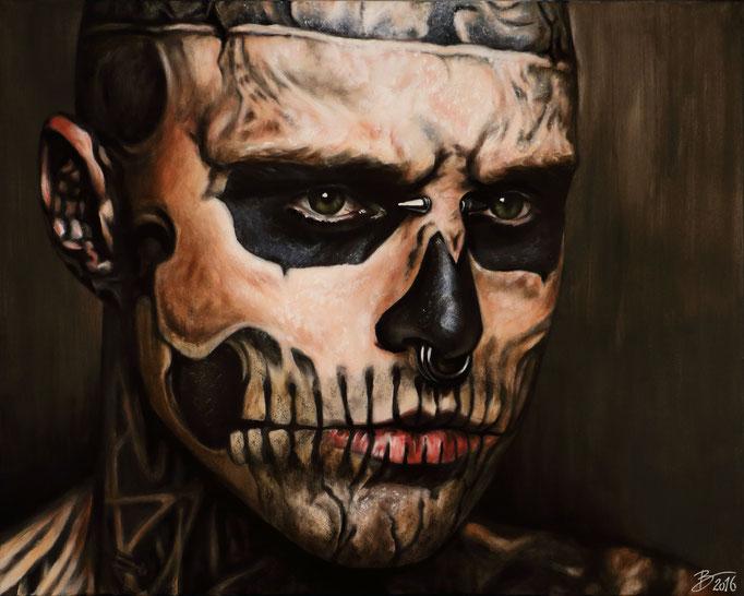 Rick Genest [aka. Zombie Boy] - 80x120cm - Acryl auf Leinwand