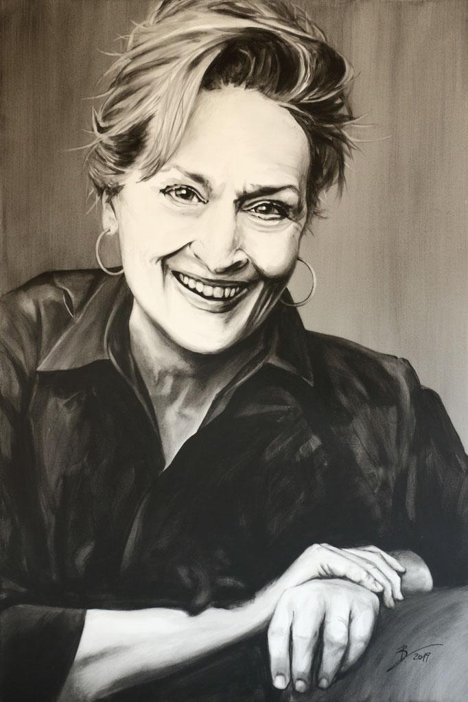 Meryl Streep - 80x120cm - Acryl auf Leinwand