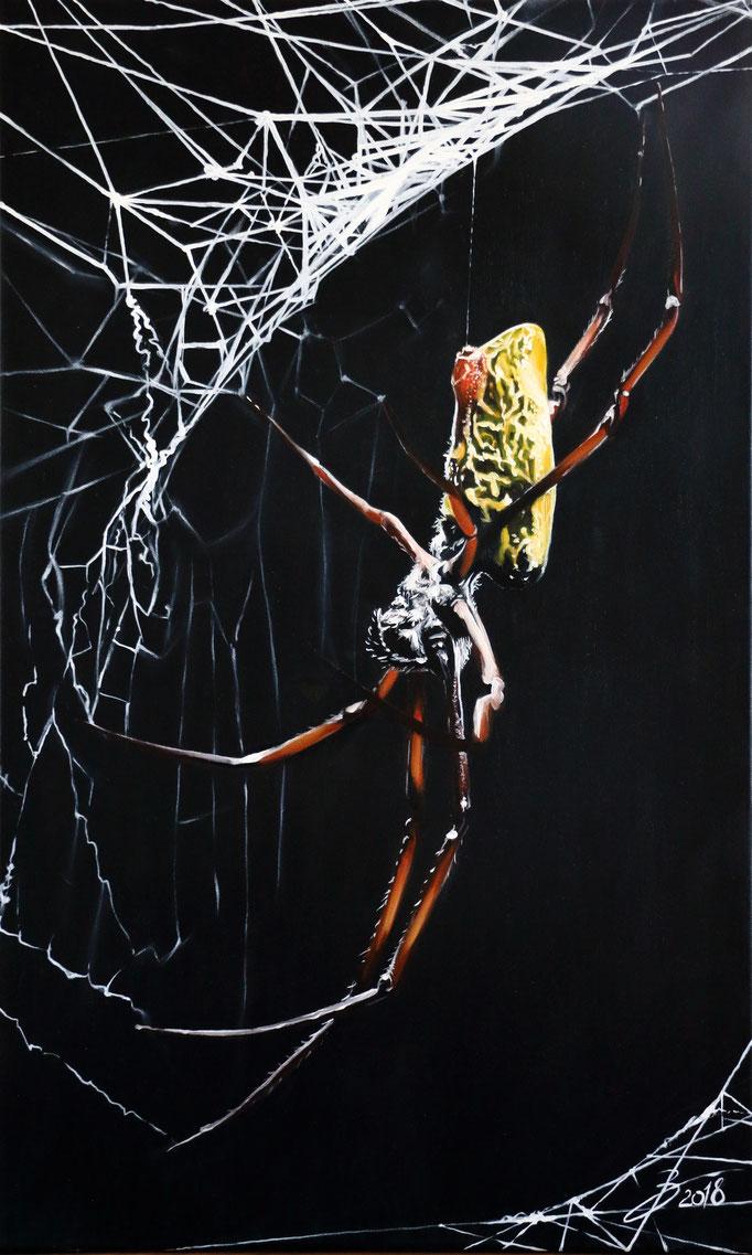 Seidenspinne - 60x100cm - Öl auf Leinwand