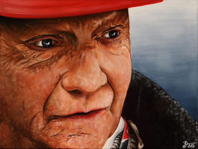 Niki Lauda - 60x80cm - Acryl auf Leinwand