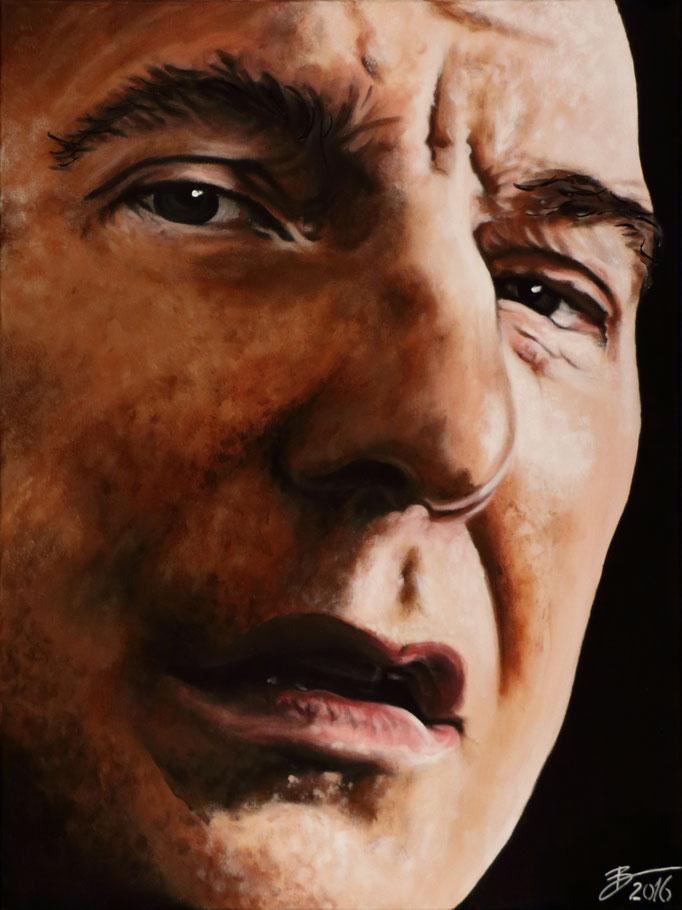 Alan Rickman - 60x80cm - Acryl auf Leinwand