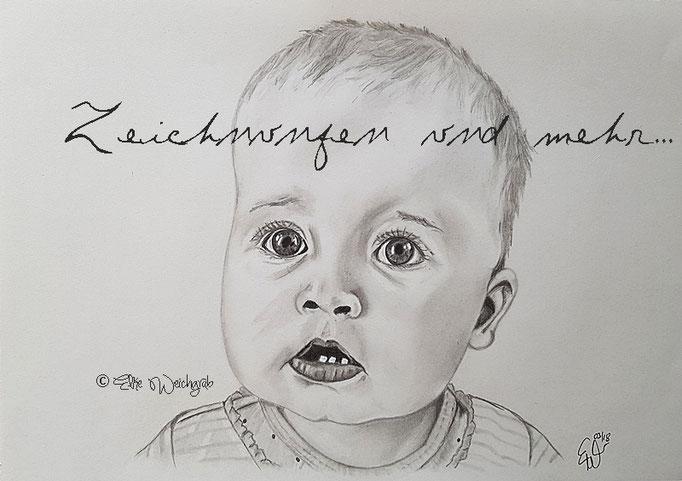 DIN A4 Bleistift Baby