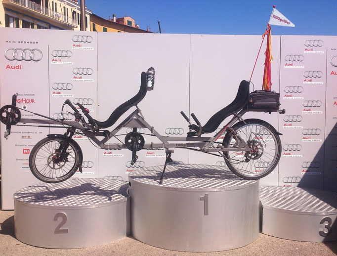 Liegerad Tandem TWOgether One in Portoferraio (ELBA)