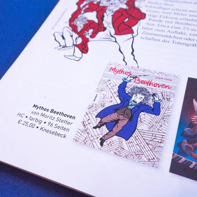 "Moritz Stetter ""Mythos Beethoven"" Graphic Novel, Artikel in der Comixene"