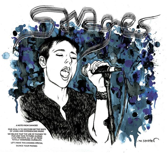 Portrait der Band Savages aus London. © 2015 Moritz Stetter