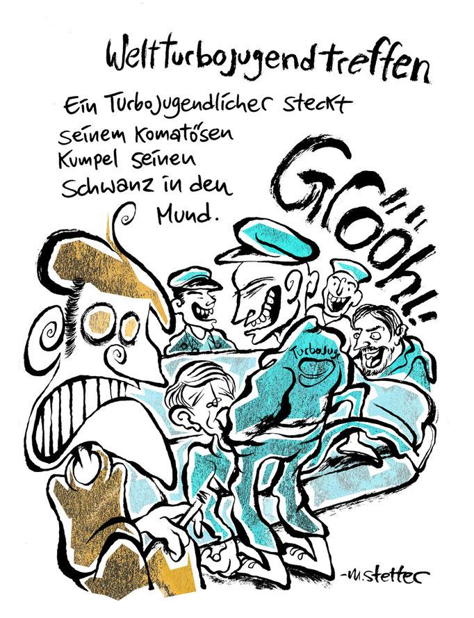 """""""How to order a beer"""" Comicheft, Verlegenheitsverlag. © 2018 Moritz Stetter"""