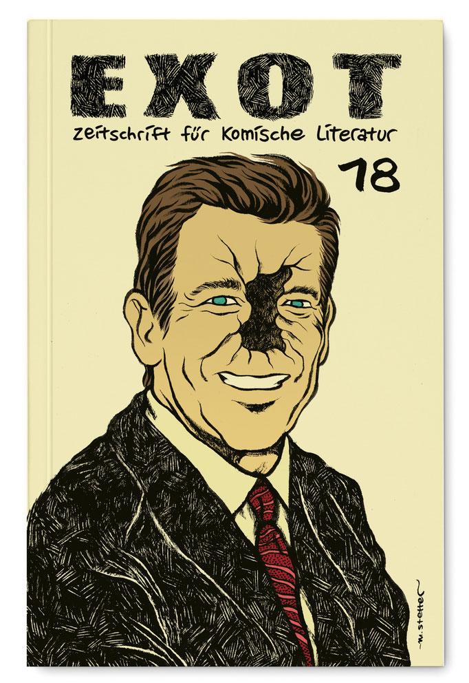 EXOT #18 - Zeitschrift für komische Literatur, Coverillustration.