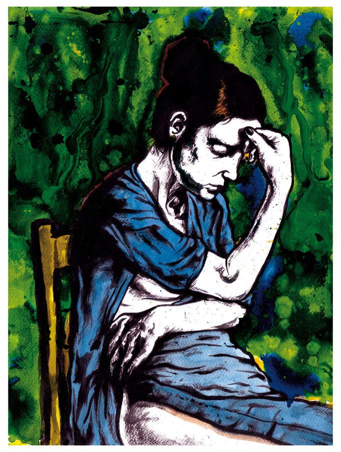 """Frauenportrait der Reihe """"Die Armen"""" © 2015 Moritz Stetter"""
