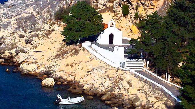 Chapelle, Lindos, Grèce
