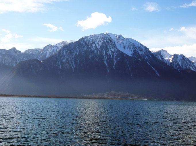 Alpes, Lac Léman, Montreux, Suisse