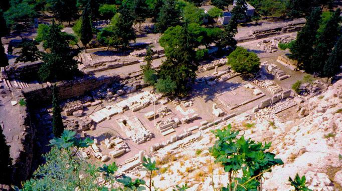 Sanctuaire d'Asclépios, Dieu guérisseur, Athènes, Grèce